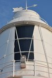 Woodman Point Lighthouse: Closeup of Lantern Room Royalty Free Stock Photo