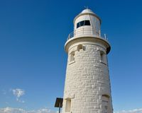 Woodman Point Limestone Lighthouse Tower royalty free stock photos