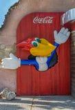Ξύλινος χαρακτήρας κινουμένων σχεδίων Woodpeck Στοκ φωτογραφίες με δικαίωμα ελεύθερης χρήσης