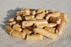 Woodpellets Stock Photos