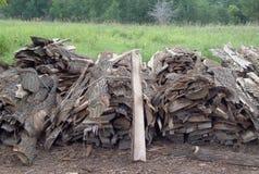 Woodpile για τα τροχόσπιτα Στοκ Εικόνες