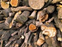 Woodpile ενός καυσόξυλου Στοκ εικόνα με δικαίωμα ελεύθερης χρήσης