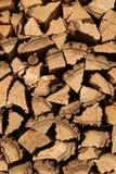 Woodpile του καυσόξυλου Στοκ Φωτογραφίες