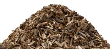 Woodpile изолировало на белизне стоковая фотография