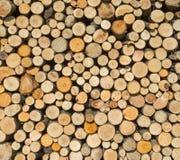 Woodpile с круглым швырком стоковые фото