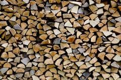 Woodpile штабелировано от differen добросердечные типы стоковая фотография