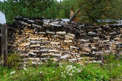 woodpile foto de stock royalty free