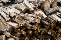 Woodpile Royalty Free Stock Images
