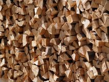 Woodpile. Stack of wood logs, ready for winter Royalty Free Stock Images