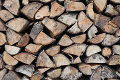 Woodpile. Stockfotos