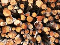 woodpile Stockbild