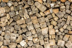 A woodpile. As a background stock image