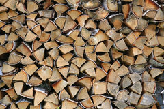 Woodpile background. Birch firewood put in woodpile background stock image