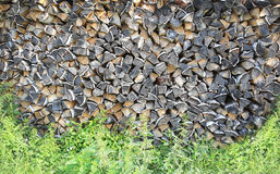 Woodpile background Stock Photo