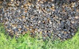Woodpile background Stock Photo