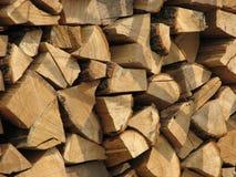 Woodpile, brandhout Stock Afbeeldingen