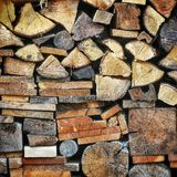 Woodpile Stock Image