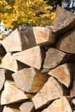 Woodpile des Brennholzes Stockbild