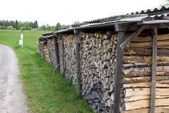 Woodpile di legna da ardere Immagine Stock Libera da Diritti