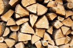 Woodpile du logarithme naturel en bois de chêne Images stock