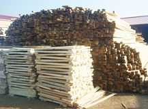 Woodpile in field Stock Images