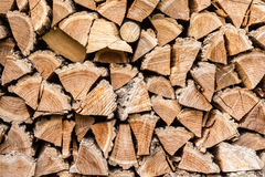 Woodpile. Fire wood pile stack background Stock Photos