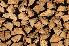 Woodpile of firewood Stock Photo