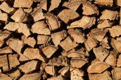 Woodpile of firewood Stock Photo