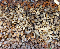 Woodpile of firewood in a garden Stock Photos