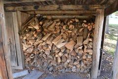 Woodpile im Freien Stockfoto