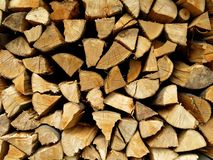 Woodpile Kindling Firewood Detail Royalty Free Stock Photography