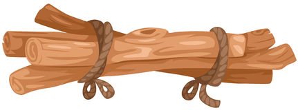 Woodpile of logs vector illustration