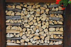 Woodpile in mountain. A woodpile background in mountain Royalty Free Stock Image