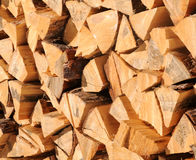 Woodpile in mountain near aosta Stock Photography