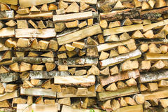 Woodpile. A photo of the stack of birch firewood Stock Photos