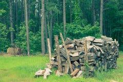 Woodpile szalunki Fotografia Royalty Free