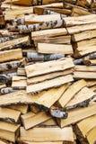 Woodpile tło Fotografia Royalty Free