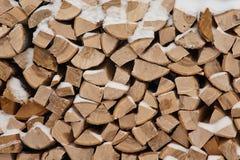 Woodpile van brandhout Stock Foto's
