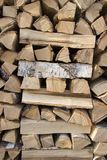 Birch firewood stock photo