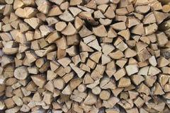 Birch firewood royalty free stock image