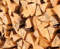 Woodpile w halnym pobliskim aosta Fotografia Stock