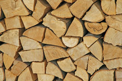 Woodpile in the Woodshed Royalty Free Stock Image