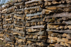 Woodpiles. Lots of fire wood piled up Royalty Free Stock Photo
