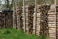 Woodpiles. Lots of fire wood piled up Royalty Free Stock Photos