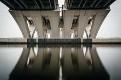 The Woodrow Wilson Bridge, over the Potomac River, seen from Ale Royalty Free Stock Image