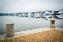 The Woodrow Wilson Bridge and Potomac River, seen from Alexandri Stock Photography