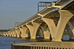 Woodrow Wilson Memorial Bridge in Washinton gelijkstroom Stock Foto's