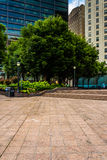 Woodruff Park and buildings in downtown Atlanta, Georgia. Royalty Free Stock Images