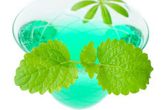 Woodruff punch with mint leaf Royalty Free Stock Photos