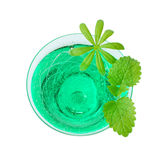 Woodruff punch with mint leaf Royalty Free Stock Images